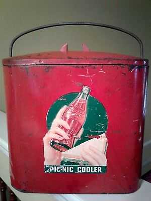 <*><*>>>  Very Rare! 1930's Coca Cola Small Ice Chest/cooler <<*><*>