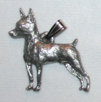 Min Pin Miniature Pinscher Dog Harris Fine Pewter Pendant USA Made