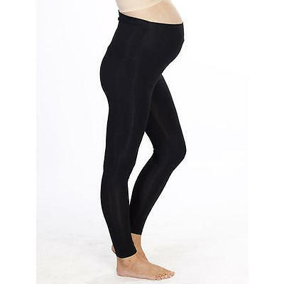 **MATERNITY Foldable Waist Band Basic Tight Legging **  Sz S BLACK NWT