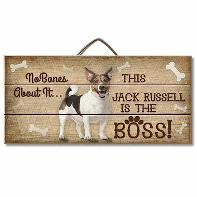 Jack Russell Is The Boss Reclaimed Pallet Wood Sign USA Made