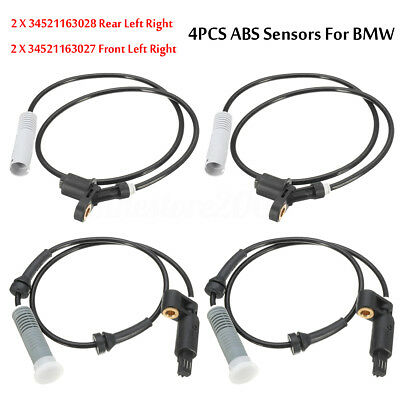 Set of 4 Front & Rear Wheel ABS Speed Sensor For BMW E36 323i 323is 328i 325i M3