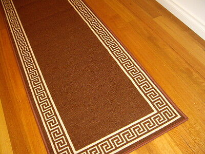 Hallway Runner Hall Runner Rug Modern Designer Brown 5 Metres Long FREE DELIVERY