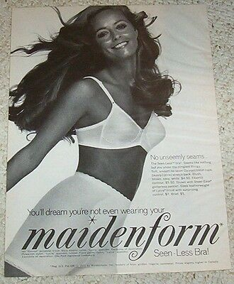 1971 print ad - Maidenform bra pantie girdle Lingerie - You'll Dream not wearing