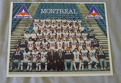 Official 1980 CFL Montreal Alouettes Team Football Photo