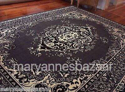 Grey Black Cream Floor Rug Large Traditional Mat Carpet FREE DELIVERY 35171