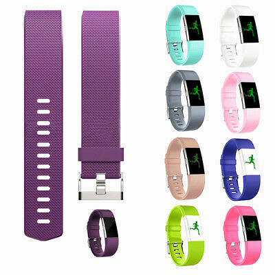 Unisex Fitbit charge2 Replacement Silicone Rubber Band Strap Wristband