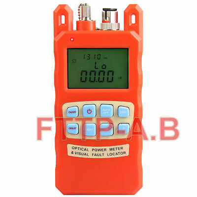 New All-in-One Fiber Optical Power Meter &1-5km 1mW Visual Fault Locator 2 in1