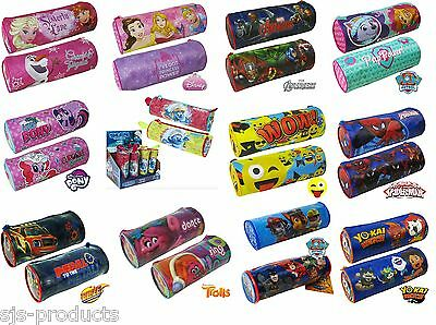 Kids Boys Girls Barrel Tube Pencil Case Back to School Official Licensed Product