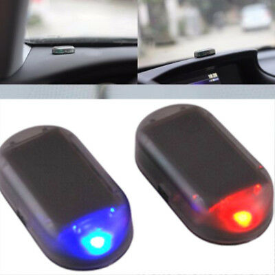 Car Solar Power Simulated Dummy Alarm Warning Anti-Theft LED Flashing