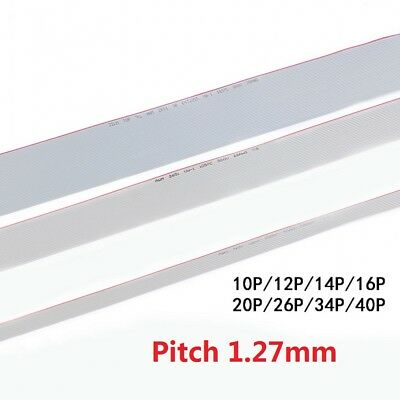 FC 10 Way-40 Way Wire 10P-40P Gray Flat Ribbon Cable Pitch 1.27mm 300V 105°C