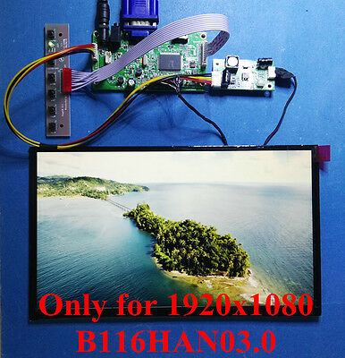 HDMI VGA AUDIO Board + 30Pin 1920x1080 eDP IPS LCD B116HAN03.0