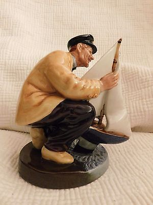 ROYAL DOULTON 2442 SAILOR'S HOLIDAY FIGURINE sailor with boat