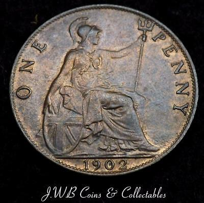 1902 Edward VII 1d One Penny Coin Higher Grade - Great Britain,