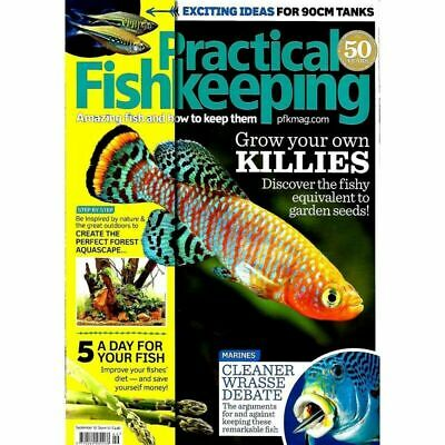 Practical Fishkeeping Magazine Sept 2017 Issue 10 Killies Wrasse PFK Tropical Fi
