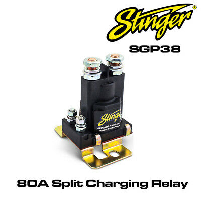 Stinger SGP38 High Current 80 Amp Split Charging Relay Battery Isolater