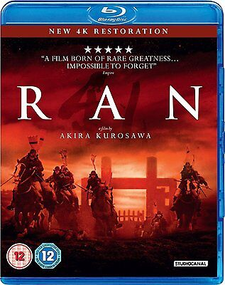 Blu-Ray Ran ( Akira Kurosawa )    Brand New Sealed Genuine Uk Stock