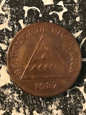 1937 Nicaragua 1 Centavo Lot#6234 Old Cleaning
