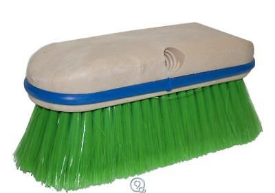 "Magnolia Brush Series 9"" Vehicle Car Wash Brush Head Green Flagged Nylon 2-1/2"