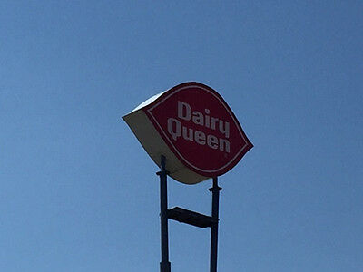Reduced!!! Dairy Queen Exterior Advertising Lighted Sign-Approx. L15' x H 8' x D