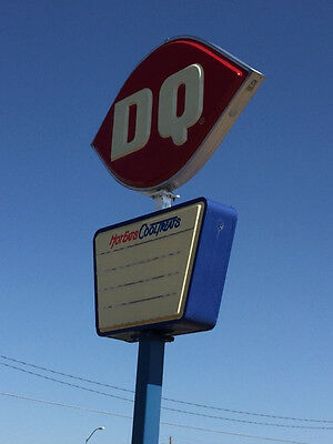 Recently Reduced! Collector's Dairy Queen Exterior Advertising Sign