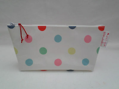 Handmade Oilcloth Make Up Bag Case - Cath Kidston Little Spot Fabric