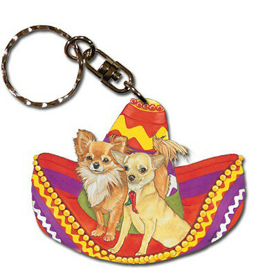 Chihuahua Wooden Keychain