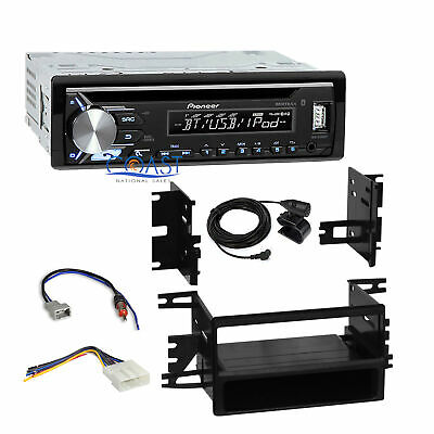 Pioneer Car Radio Single Din Bluetooth Dash Kit Harness For 07-13 Nissan Versa