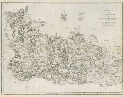 """""""A map of the North part of the West Riding of Yorkshire…"""" by John CARY 1789"""