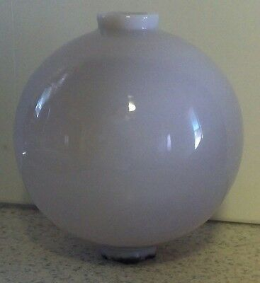 Sun Colored Amethyst Lightning Rod Ball Milk Glass Roof Cabin Home Barn Decor