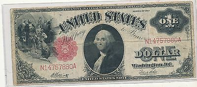1917 $1 United States note