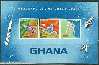 GHANA  IMPERFORATED SOUVENIR SHEET OUTER SPACE  SCOTT#307a  MINT NEVER HINGED