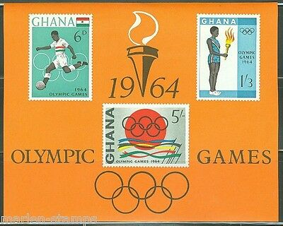 GHANA  IMPERFORATED SOUVENIR SHEET OLYMPIC GAMES  SCOTT#185a  MINT NEVER HINGED