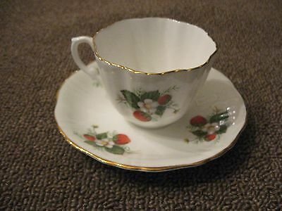 Hammersley and Company Bone China Tea Cup and Saucer Strawberry Pattern