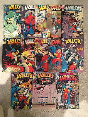 Valor Comic Lot 1St Series 13 Issues 1 2 3 4 5 6 7 8 9 13 14 18 19 Dc