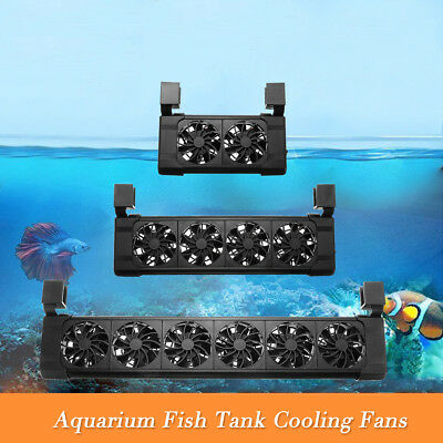 Aquarium Fish Tank Cooling Fans 2/ 4/ 6 Heads Fan Tropical Chillers Water US