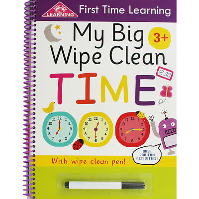 My Big Wipe Clean Time Book (Paperback), Children's Books, Brand New