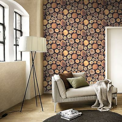 Stacked Chopped Logs Wallpaper - 263212 Windsor Wood Wooden