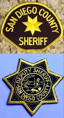 San Diego County Sheriff  State of California CA Patch NEW