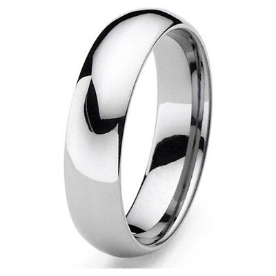 Tungsten Mens / Women Polish 6MM Wedding Band Ring Never Tarnish All Size R110