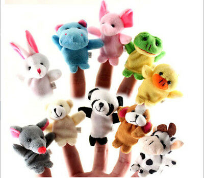 Cute Animal Finger Puppets Plush Doll Baby Educational Hand Kid Toy Randomly 1pc