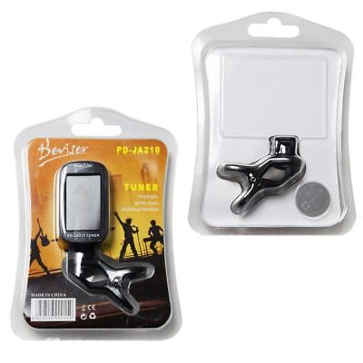 10 x Job Lot Wholesale Black Guitar Clip-on Digital Tuner
