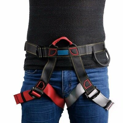 Outdoor Safety Harness Seat Belts Sitting Rock Climbing Rappelling Tool With Bag