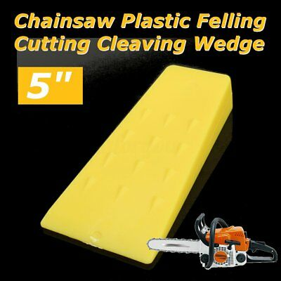 Yellow Chainsaw Plastic 5'' Inch Felling Cutting Cleaving Wedge Width 50mm 70mm