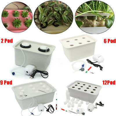 220V Hydroponic Grow System Kit Indoor Cabinet Box Garden Plant Site System