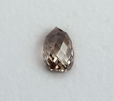 Echte Diamant Pampel in fancy brown ( 1,01 Carat ) ca. 6,4 x 4,2 x 4,0 mm