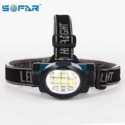 Lampe Frontale 6 Led Cob 3 Fonctions Ultra Lumineuse / Piles Offertes