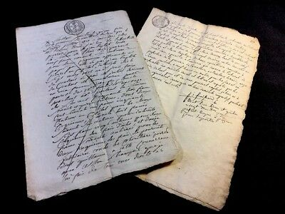 LOT OF TWO MANUSCRIPTS 1800s