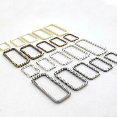 Metal Square Ring Welded,for straps,purses,bags,Choose quantity Size & color usa