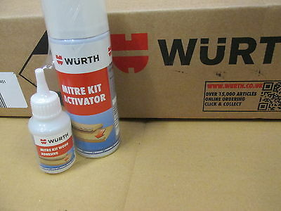 Wurth Wood Adhesive Glue Mitre Kit Wood Glue And Activator-Free Post