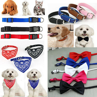 Pet Cat Dog Puppy Glossy Reflective Adjustable Collar Safety Buckle Bell Strap